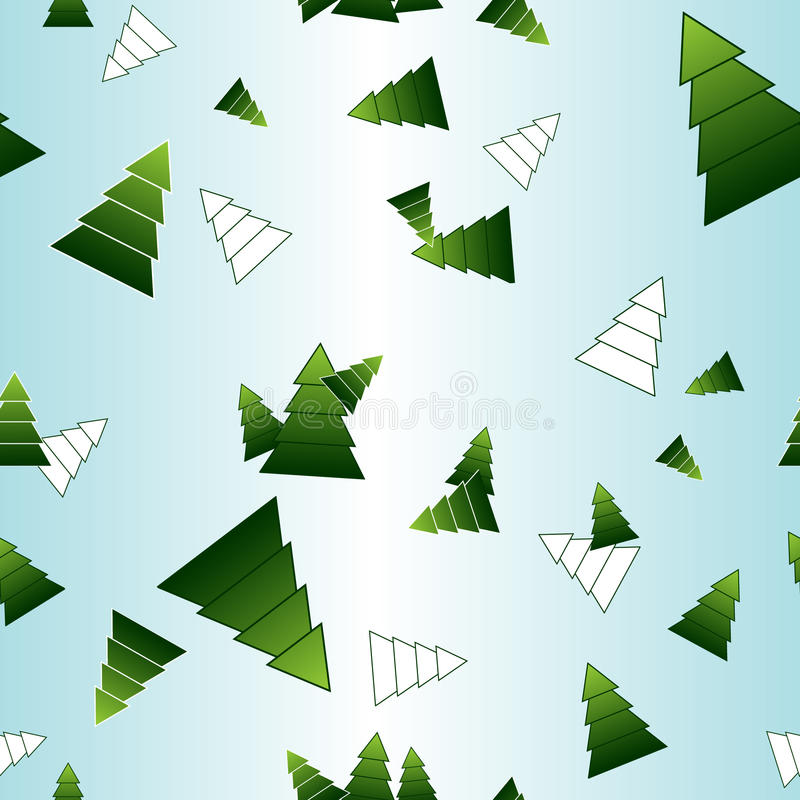 Patern sans joint de vecteur des arbres de Noël illustration stock