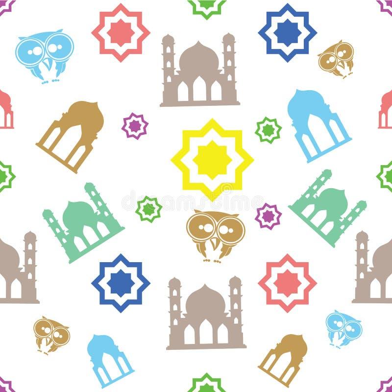 Patern seamles Ramadan doodle ilustracja wektor
