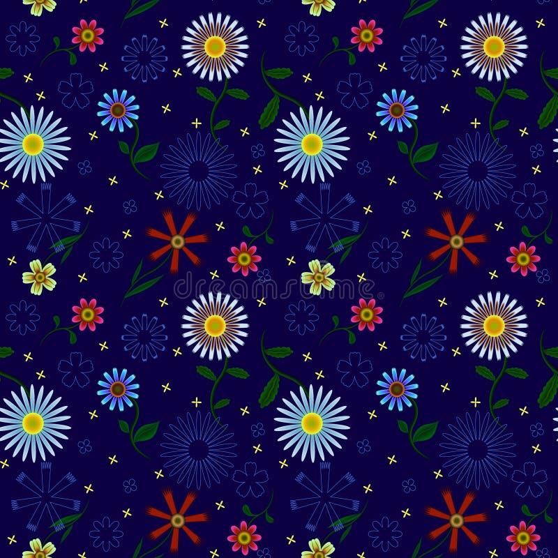 Patern sem emenda com flores ilustração do vetor