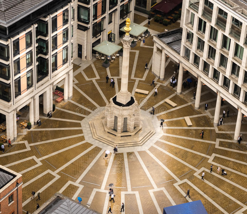 Paternoster Square, London, 27th,July,2017 royalty free stock photos