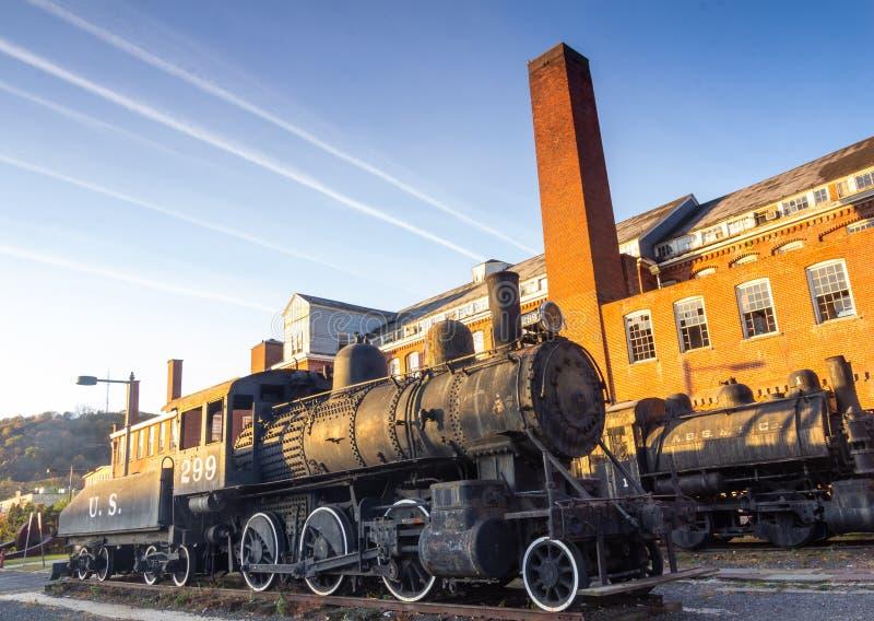Paterson, NJ/Vereinigte Staaten - Nov. 9.2019: Landschaftsbild des Paterson Museums lizenzfreies stockfoto