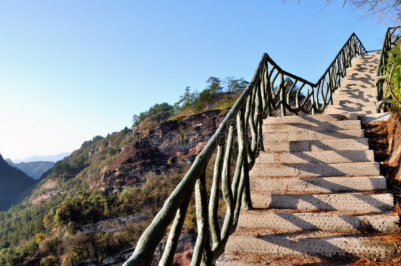 The path along the cliff royalty free stock images