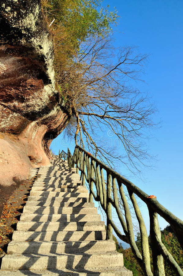The path along the cliff royalty free stock photos