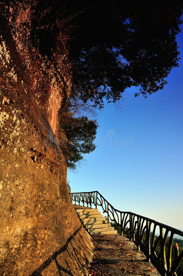 The path along the cliff royalty free stock image