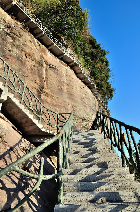 The path along the cliff royalty free stock photo