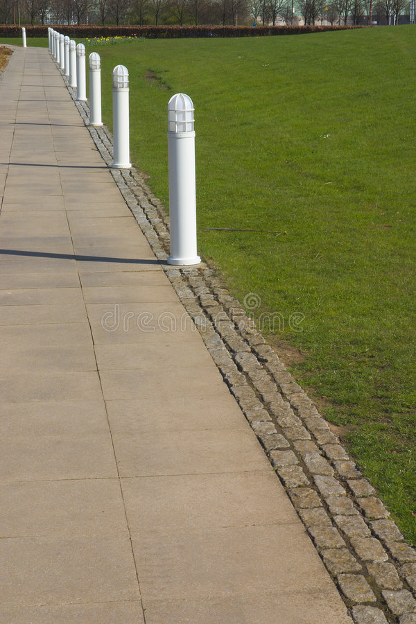 Download Path and Bollards stock image. Image of step, white, pathway - 704215