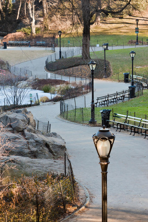 Download Path in Central Park stock photo. Image of lake, united - 17733570