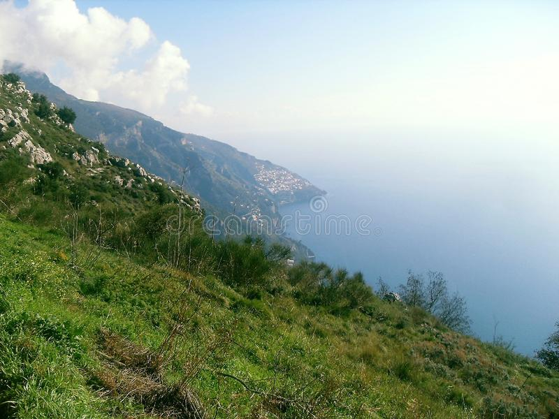 Path of the Gods in sud Italy stock images