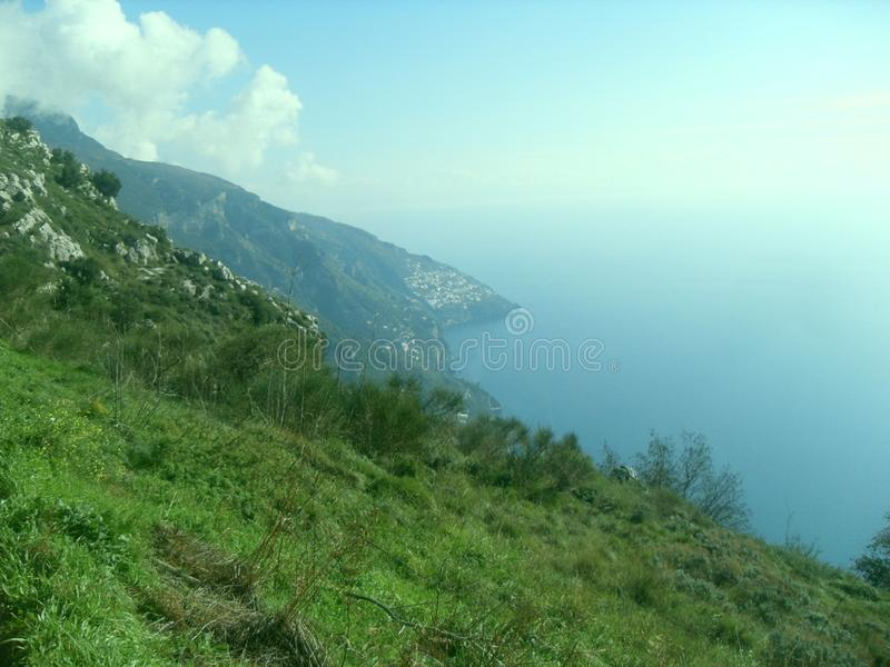 Path of the Gods in sud Italy royalty free stock photography