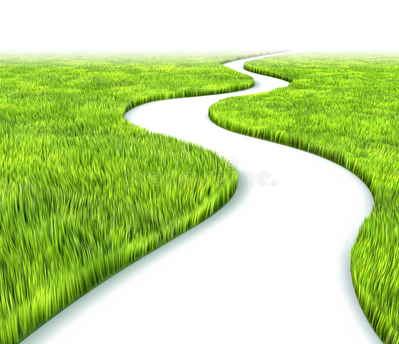 Download Path in grass stock illustration. Image of plant, navigation - 8004560