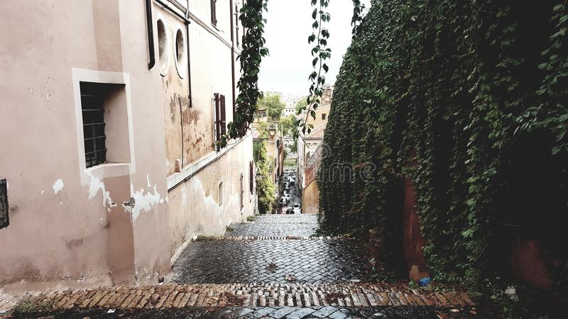 Path in Italy Rome royalty free stock image
