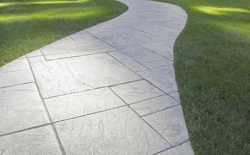 Path and Lawn stock photography
