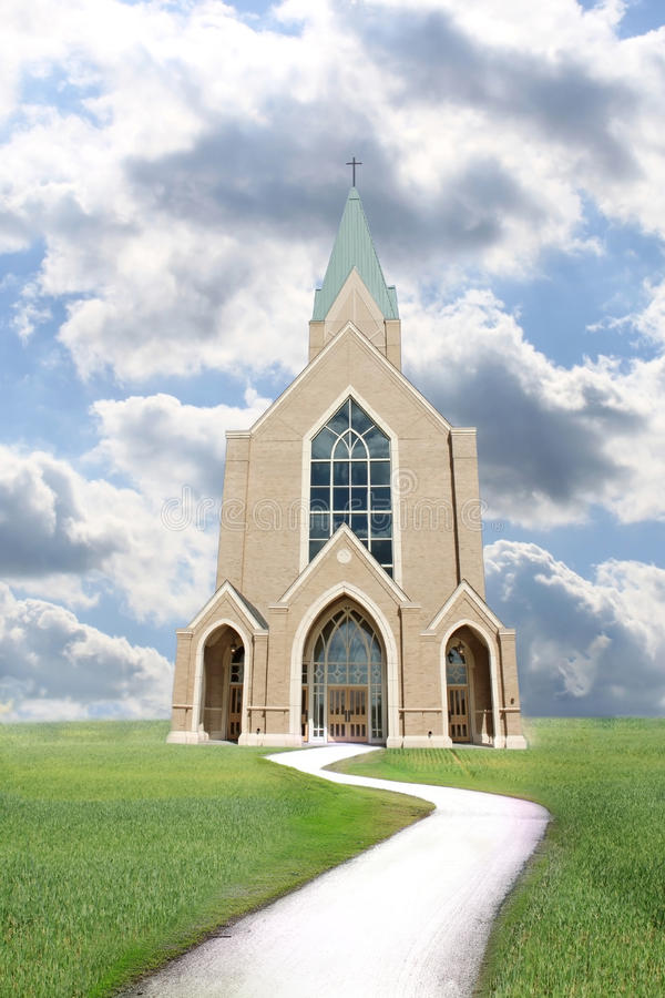 Download Path leading to church stock photo. Image of community - 14107646