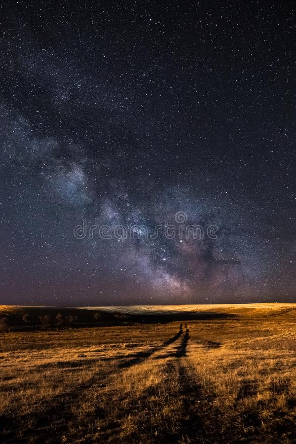 Download Milky Way And A Path Into The The Field Stock Photo - Image of stars, alberta: 117843562