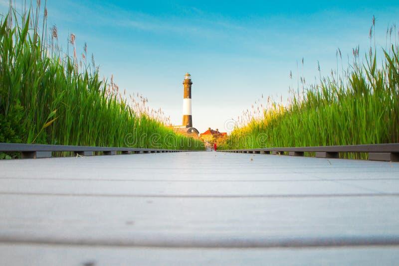 Fire Island Lighthouse on Long Island NY stock images
