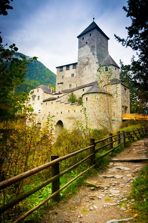 Path to Taufers Castle royalty free stock photo