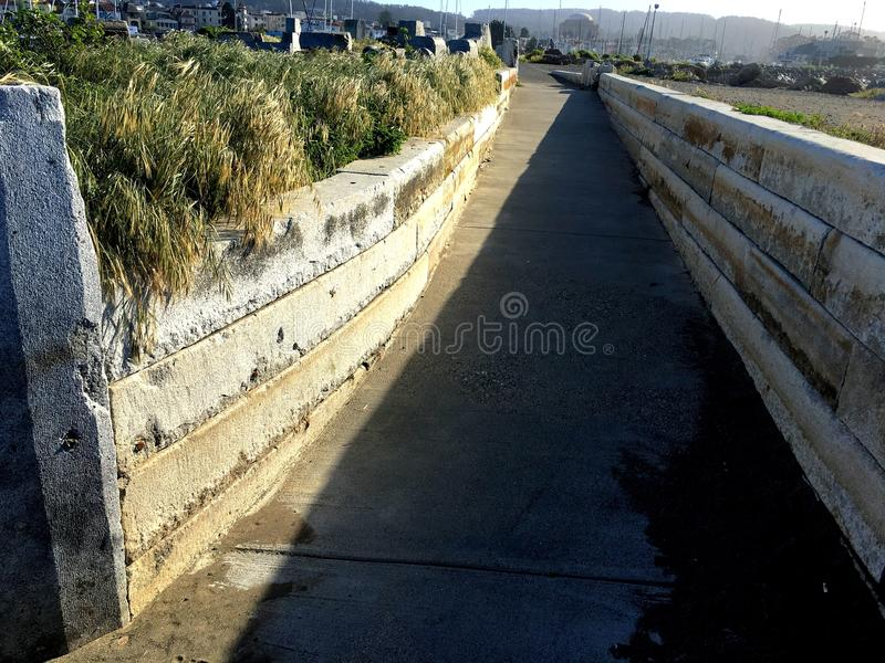 A path leading to the Wave Organ stock photo