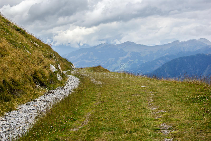 Path in mountain royalty free stock photography
