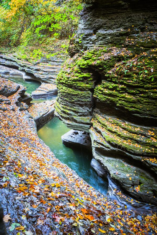 Free Path Near Small Falls In Watkins Glen State Park, Finger Lakes, USA Royalty Free Stock Photography - 192886957