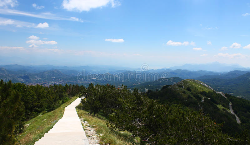 Download Path Over Mountains In Lovcen National Park Stock Image - Image of view, great: 85727245