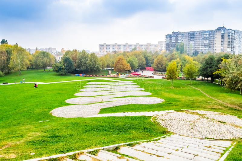 Path in Park. Path in Alexandru Ioan Cuza IOR Park, Bucharest, Romania royalty free stock photography