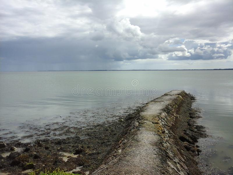 Path Into Irish Sea royalty free stock photography
