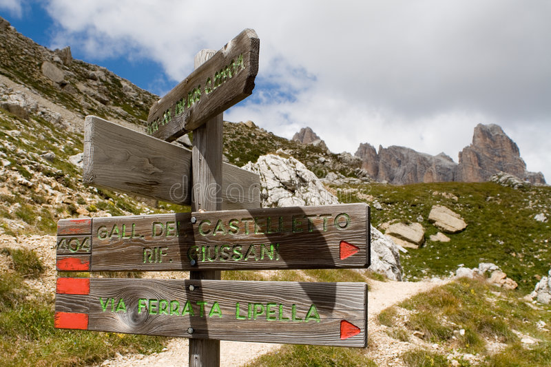 Path sign royalty free stock photo
