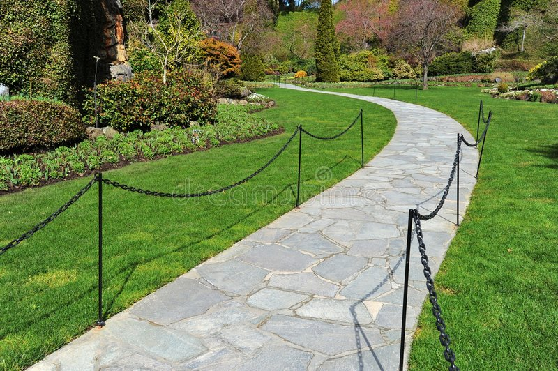 Download Path in sunken garden stock image. Image of colorful, colours - 8765495