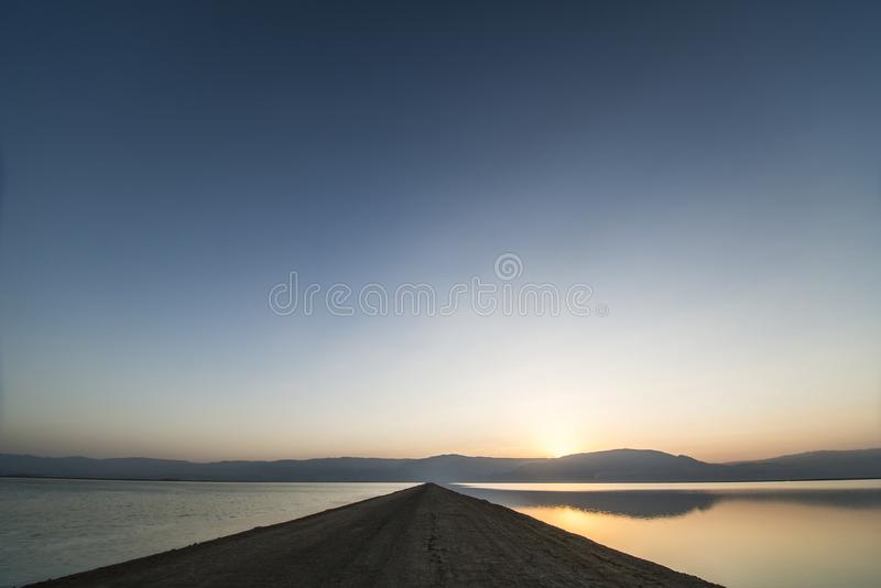Dead sea sunrise royalty free stock photography