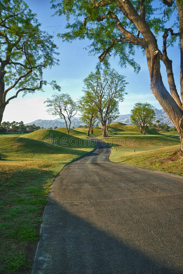 Download Path Thru The Trees At Course In California Stock Image - Image of conquering, mountain: 39509031