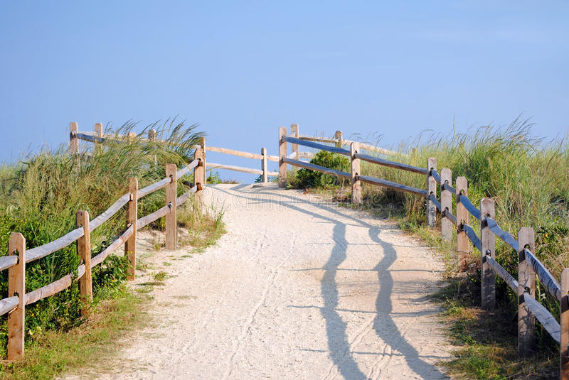 Path to the Beach stock image