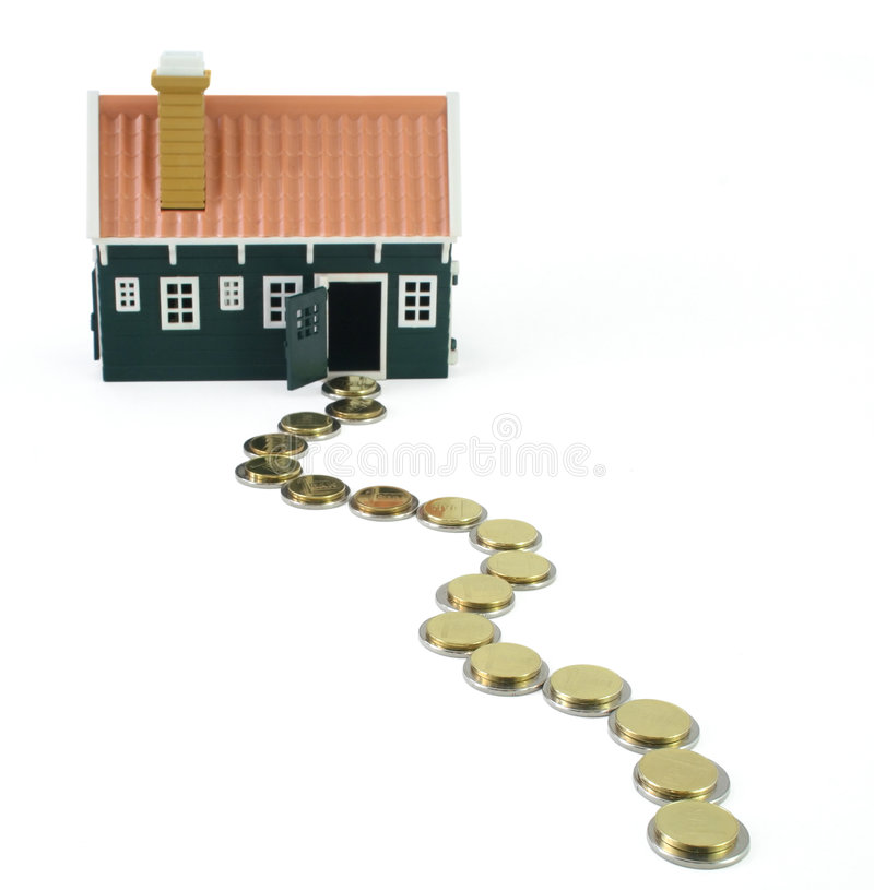 Path to homeownership - isolated stock image