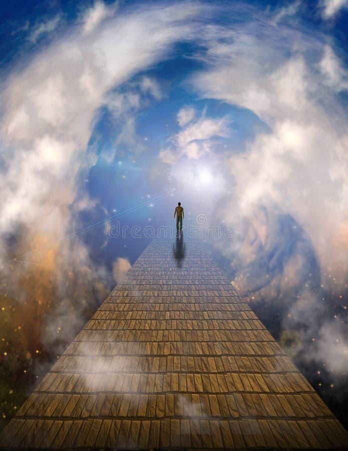Path to light royalty free illustration