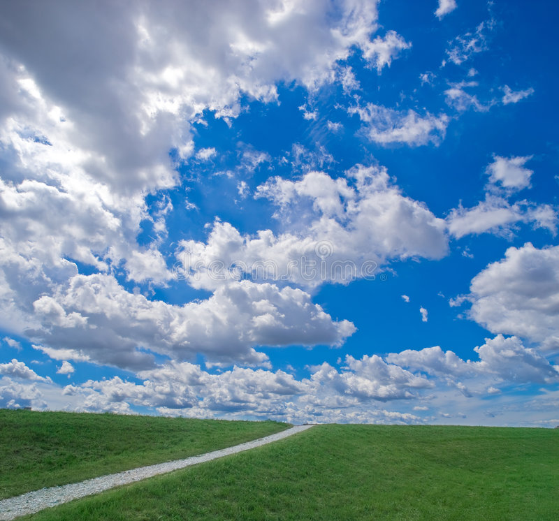 Download Path to the sky stock image. Image of field, background - 6088665