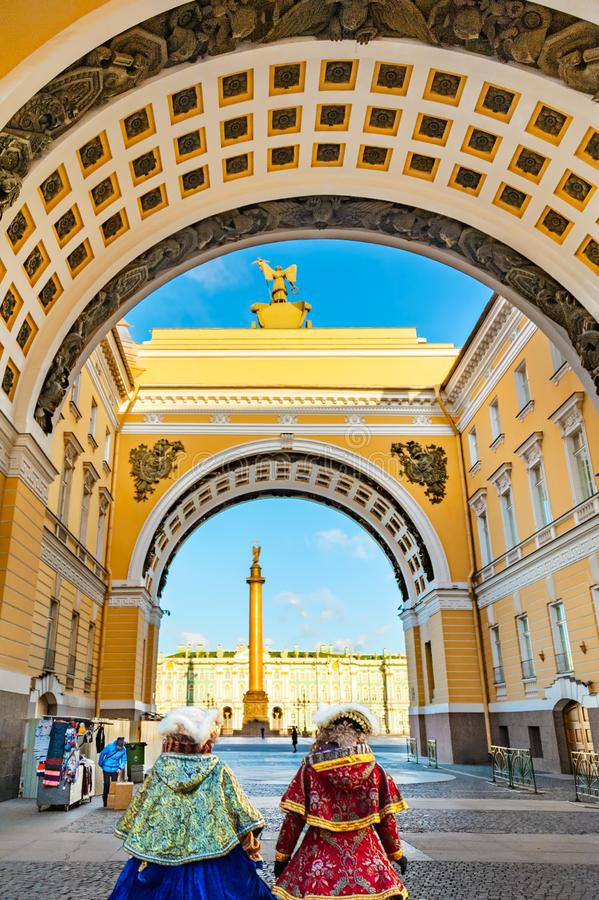 PATH TO STATE HERMITAGE MUSEUM royalty free stock photography