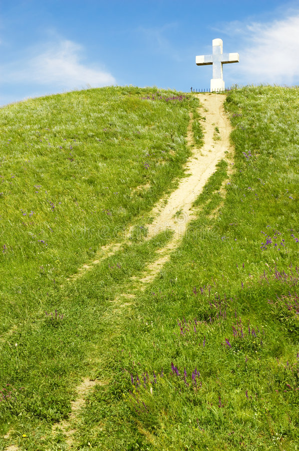 Free Path To The Cross Stock Image - 5367151