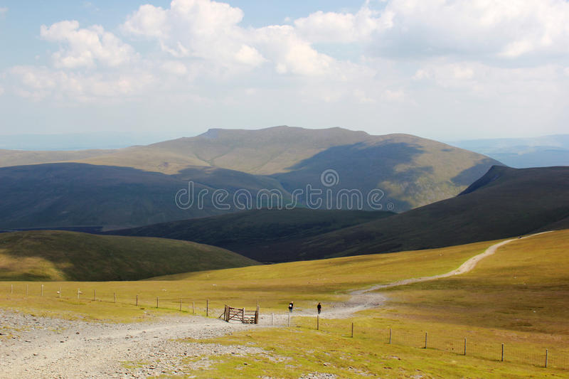 The Path Up Skiddaw In The Lake District Stock Photo