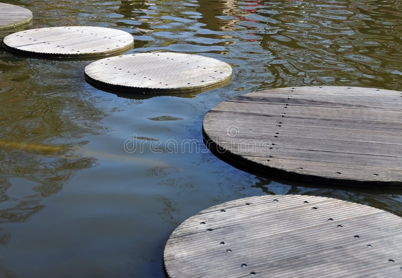 Path through water royalty free stock images