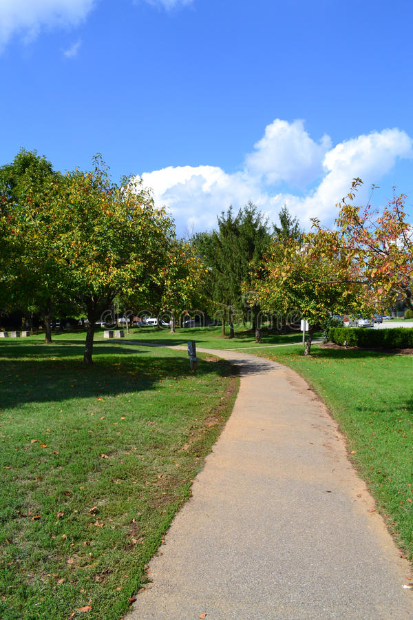 Download Path Winding Through Park In The Summertime Stock Image - Image: 24230131