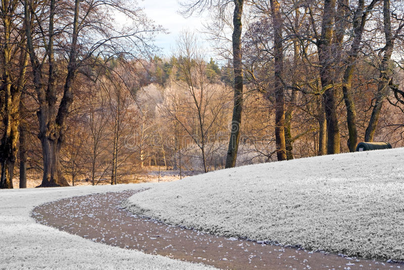 Download Path in winter stock photo. Image of september, perspective - 12421886