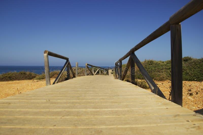 Pathaway на побережье Стоковое Изображение RF