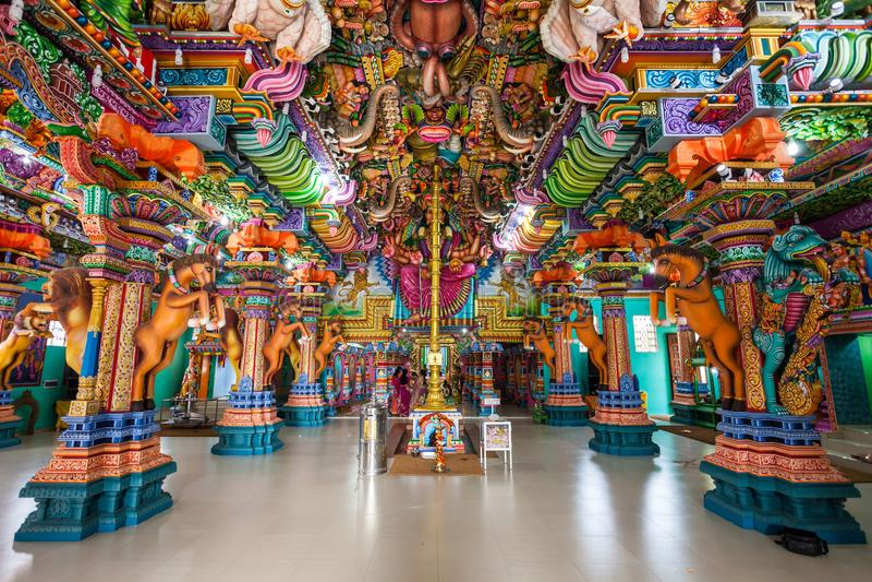 Pathirakali阿曼寺庙,亭可马里 图库摄影