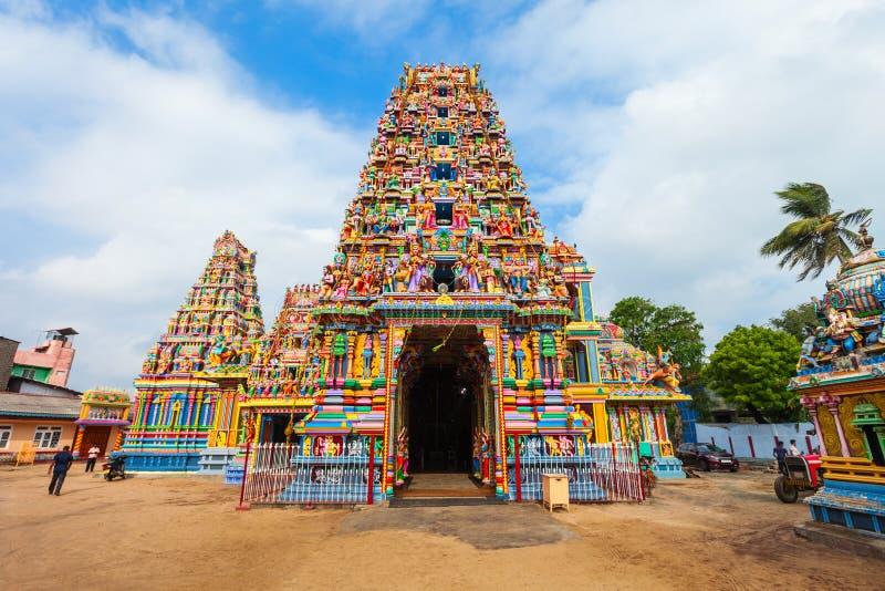 Pathirakali阿曼寺庙,亭可马里 免版税库存图片