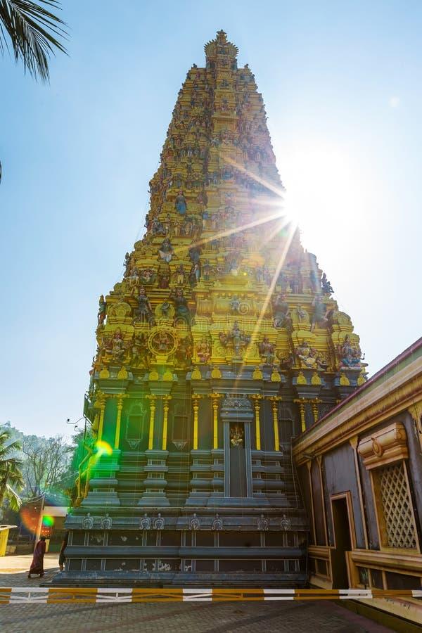 Pathirakali阿曼寺庙,斯里兰卡 库存照片
