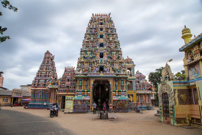 Pathirakali Amman świątynia w Trincomalee, Sri Lanka obrazy stock