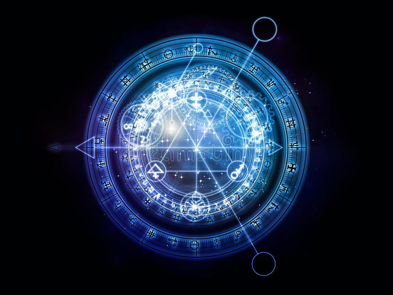 Paths of Sacred Geometry royalty free illustration