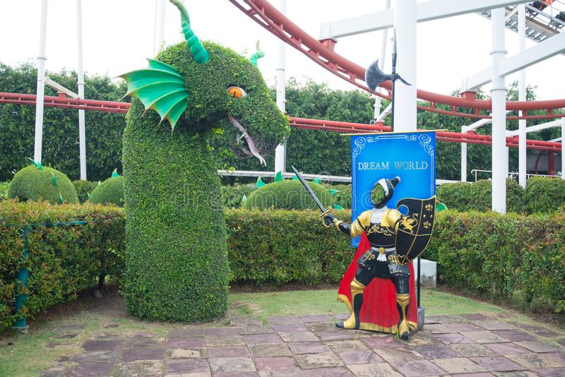 Dream World is one of Thailand`s famous theme parks in Pathumtanee ,Thailand. PATHUMTHANI, THAILAND - April 27, 2019 : Dream World is one of Thailand`s famous royalty free stock photos