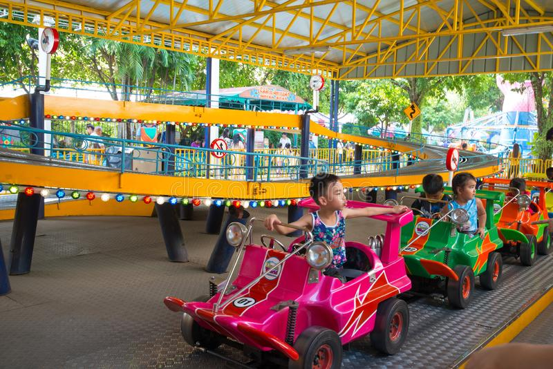 Dream World is one of Thailand`s famous theme parks in Pathumtanee ,Thailand. PATHUMTHANI, THAILAND - April 27, 2019 : Dream World is one of Thailand`s famous stock images