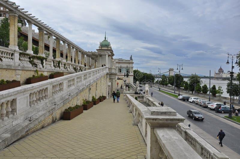 Pathway in the Castle Garden Bazaar stock image