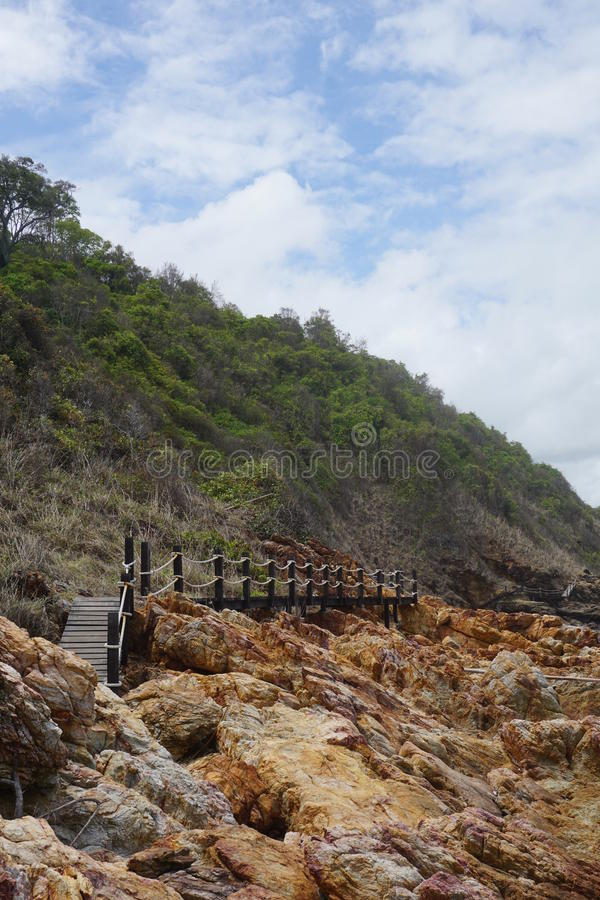 Pathway on cliff royalty free stock photos